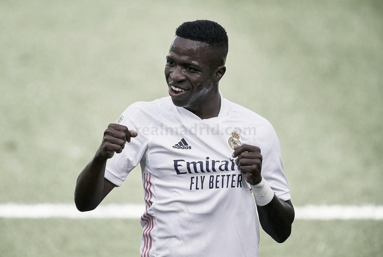 Vinicius, máximo goleador del Madrid en esta Liga