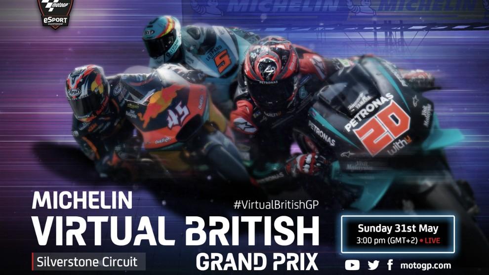 Parrilla de pilotos del Virtual GP Michelin de Gran Bretaña