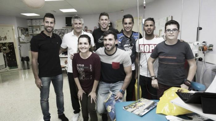 Los jugadores amarillos visitaron el Hospital Materno Infantil