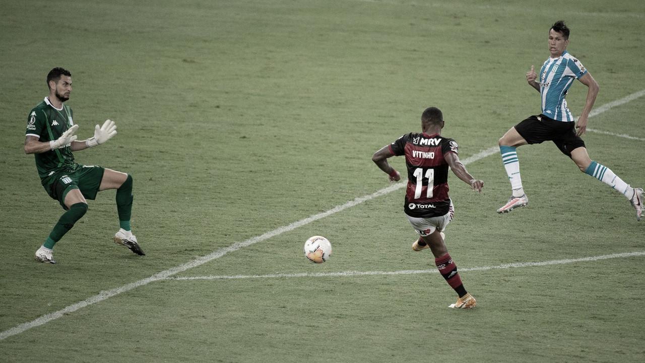 Gol perdido por Vitinho ainda no primeiro tempo (Foto: Alexandre Vidal / Flamengo)