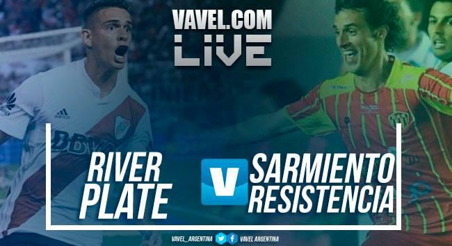 Resultado partido River Plate vs Sarmiento de Resistencia por Copa Argentina (3-1)