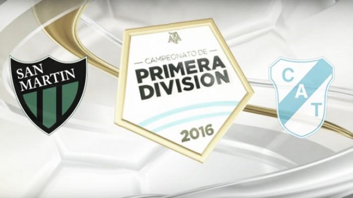 Resultado partido San Martín de San Juan 2-0 Temperley por el Torneo de Transición 2016