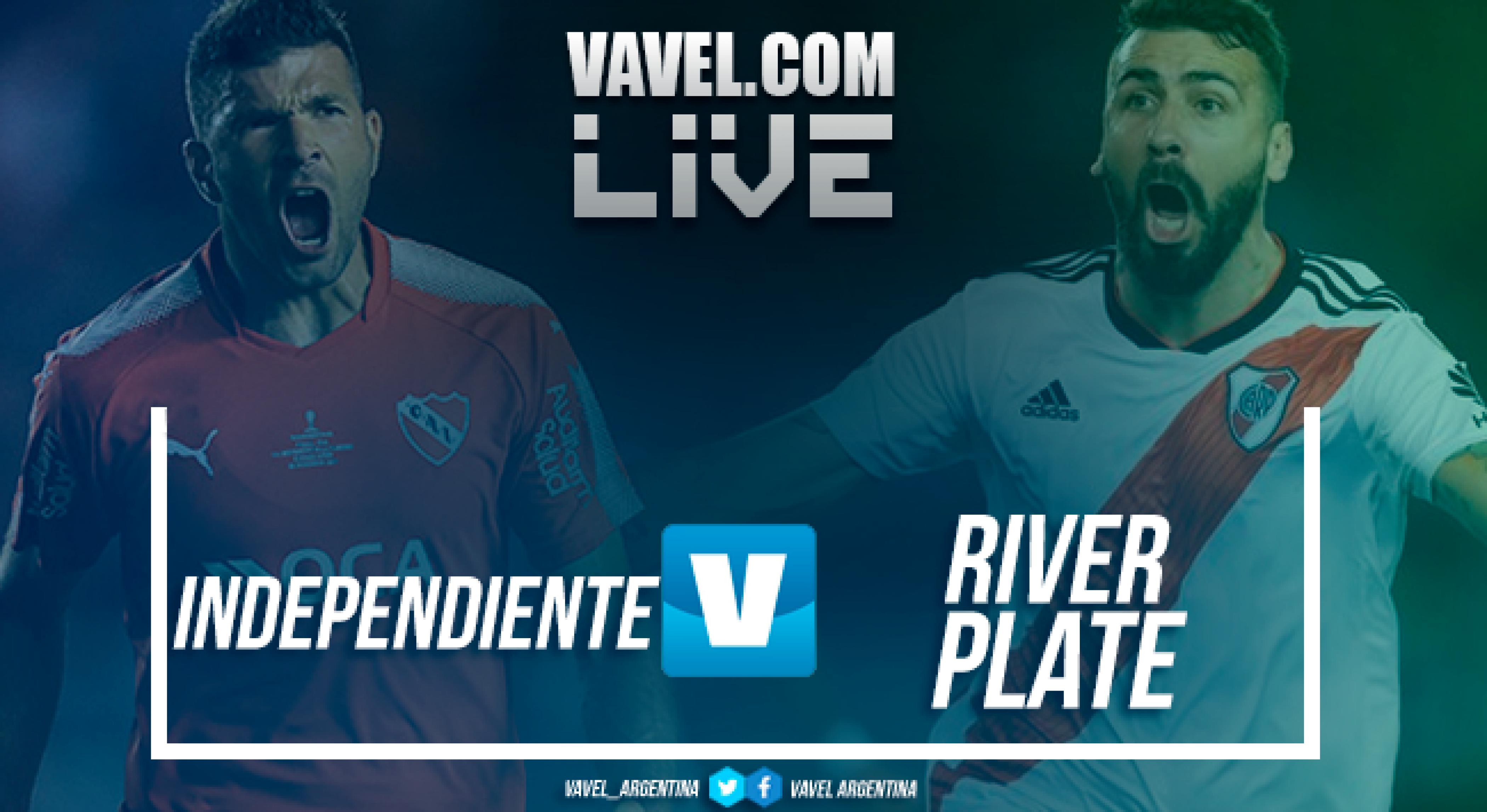 Resultado final Independiente vs River Plate por Copa Libertadores (0-0)