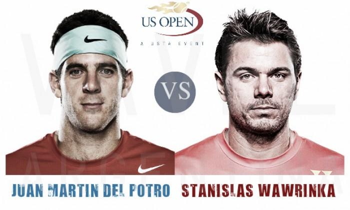 Resultado y vídeo Del Potro vs Wawrinka en US Open 2016 (7-6; 4-6; 6-3 y 6-2)