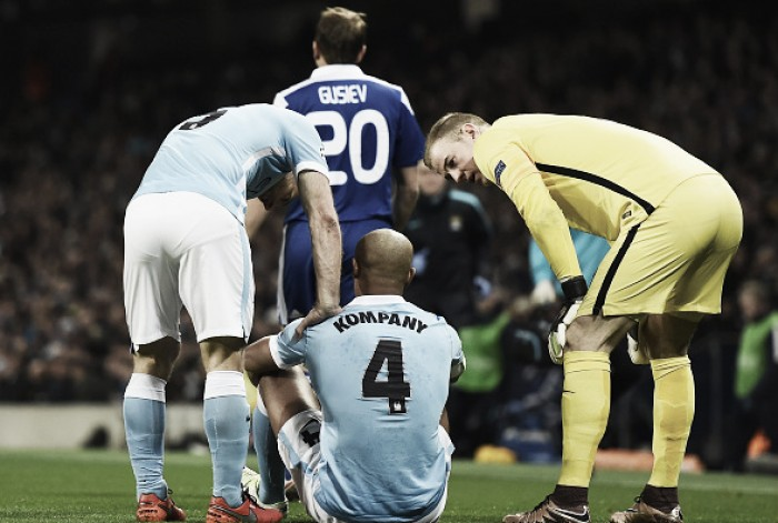 Double injury blow for City as Kompany and Otámendi hobble off with injuries