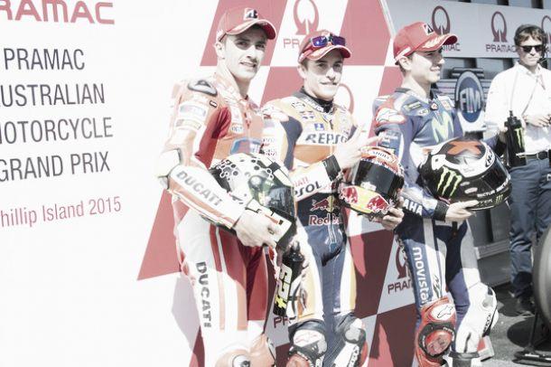MotoGP, Phillip Island: le parole di Márquez, Lorenzo e Iannone a fine gara