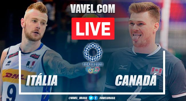 Melhores momentos de Itália 3x2 Canadá no Vôlei Masculino pelas Olimpíadas de Tóquio