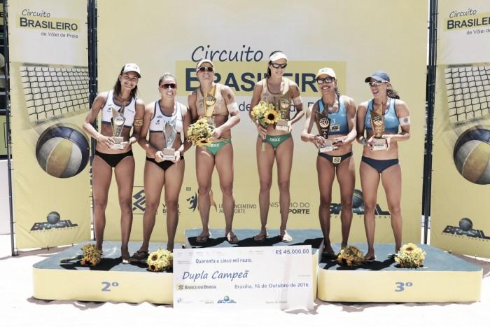 Etapa do Circuito Nacional de Vôlei de Praia termina com velhos e novos campeões
