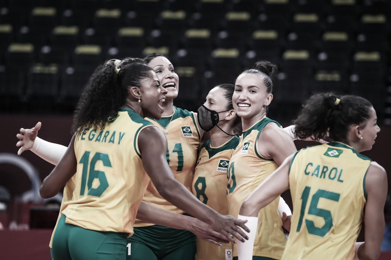 Brasil se impõe e estreia com vitória no vôlei feminino em Tóquio