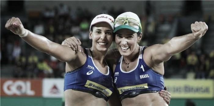 Ágatha e Duda ficam com o ouro feminino da etapa do Circuito Mundial de Vôlei de Praia