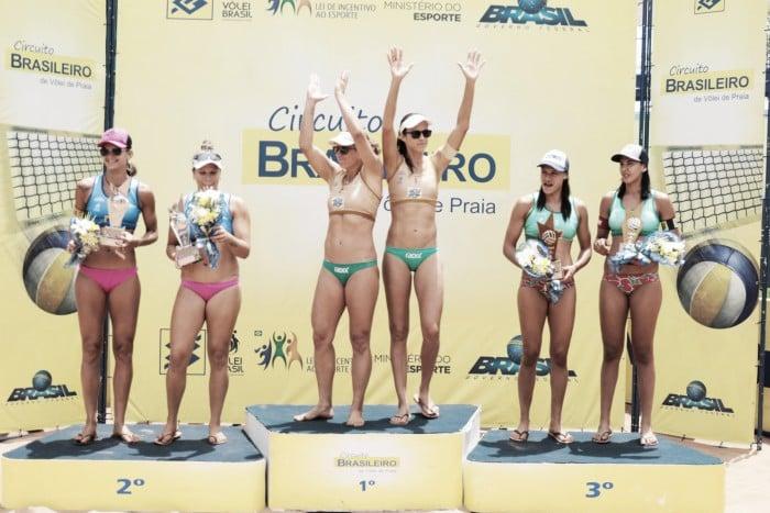 Representantes olímpicos faturam títulos da terceira etapa do Circuito de Vôlei de Praia