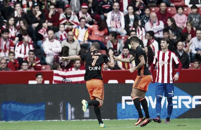 Valencia vence Sporting Gijón fora de casa e deixa Z-4 do Espanhol