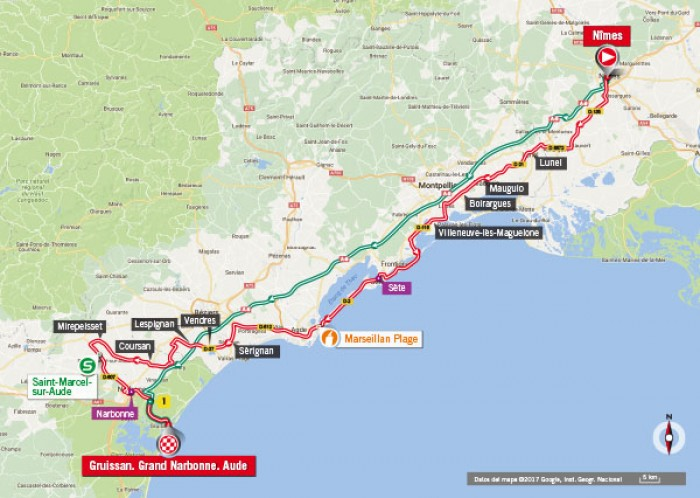 Vuelta 2017, la presentazione della 2° tappa: Nîmes – Gruissan, occasione per i velocisti