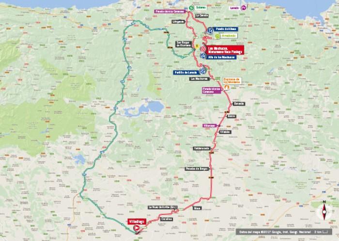 Vuelta a España 2017, 17^ Tappa: Villadiego – Los Machucos. Monumento Vaca Pasiega, ritorno in quota