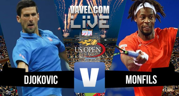 Djokovic vence Monfils no US Open2016 (3-1)