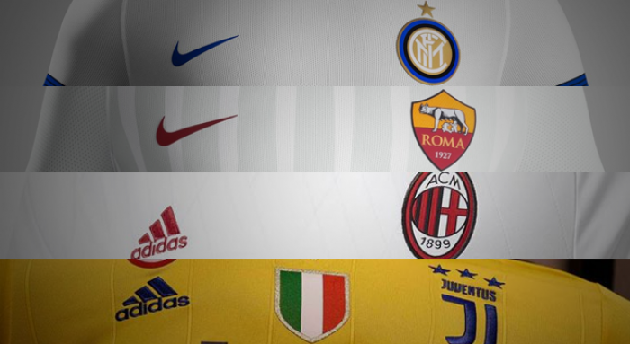 Internazionale, Milan, Roma e Juventus lançam camisa 2 para a temporada 2017/18; veja as fotos