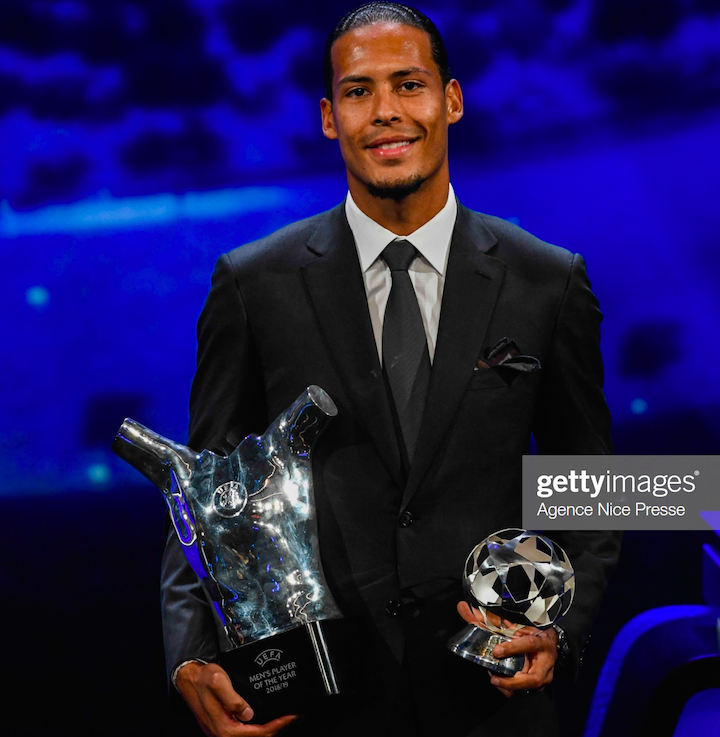 Virgil Van Dijk named UEFA Men's Player of the Year