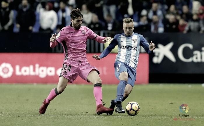 Málaga - Levante: puntuaciones del Málaga, jornada 14 de LaLiga