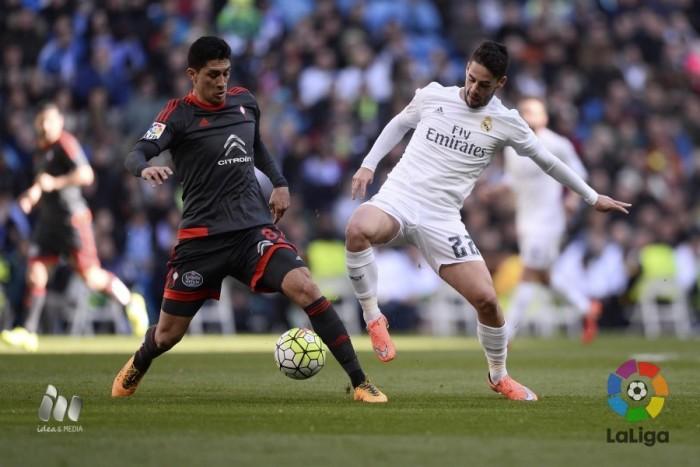 El Celta, castigado en el Bernabéu
