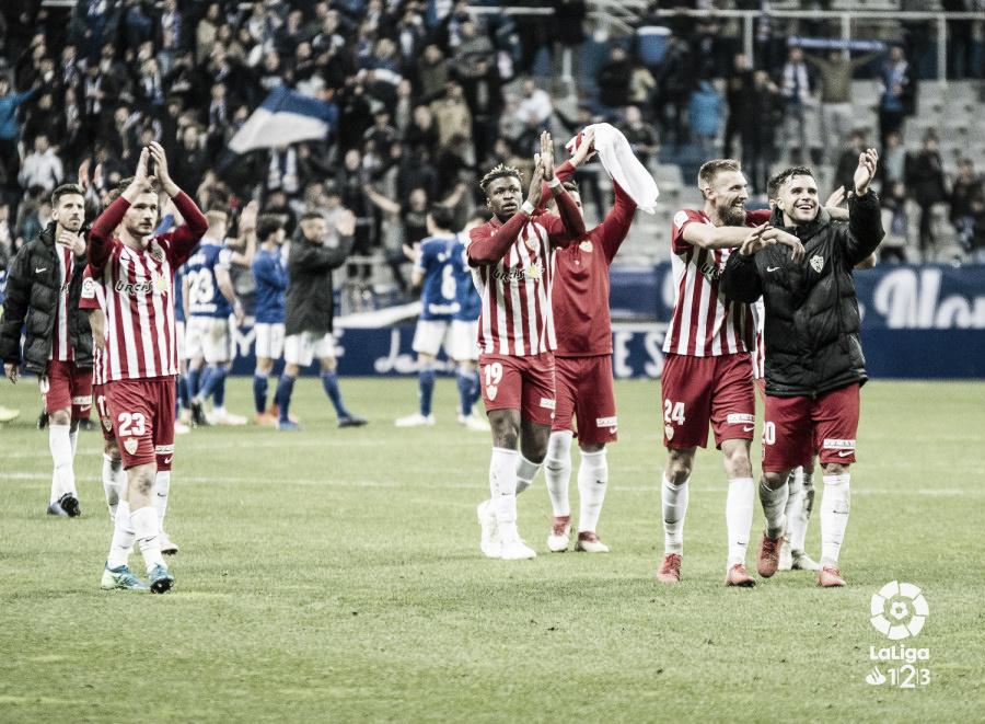 UD Almería - Real Oviedo: puntuaciones de la UD Almería en la 17ª jornada de Liga 1 2 3