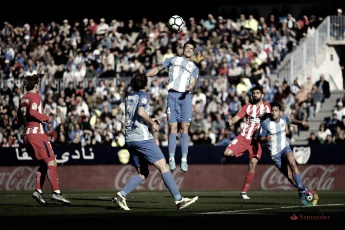 Málaga CF - Atlético de Madrid, puntuaciones del Málaga, jornada 23 de LaLiga