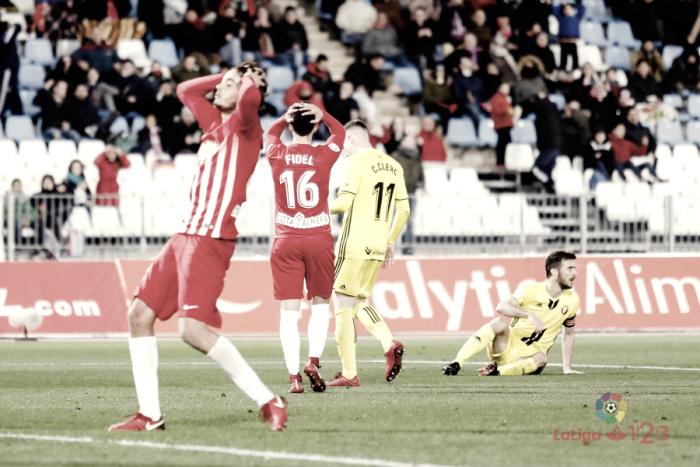 UD Almería - CA Osasuna: puntuaciones Almería; jornada 26 de La Liga 1|2|3