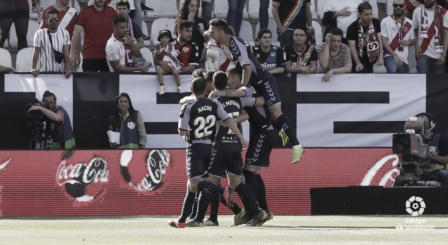 Rayo Vallecano vs Real Valladolid en VIVO y en directo online en LaLiga Santander 2019 (1-2)