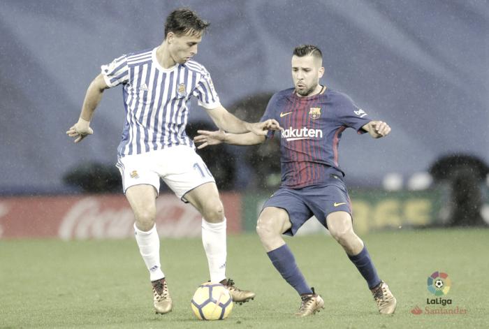 La mejoría de la Real no basta para detener la dupla Messi-Suárez
