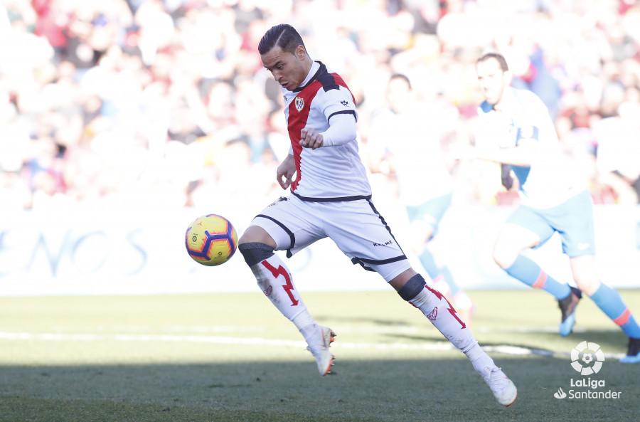 Raúl de Tomás, el mejor jugador ante el Atlético de Madrid