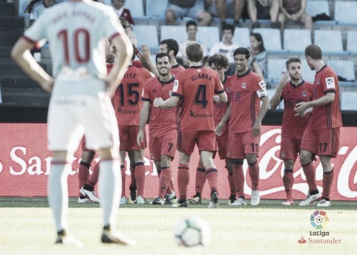 Em jogo movimentado e com virada no fim, Real Sociedad bate Celta fora de casa