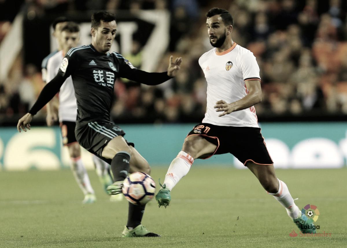 Resultado Valencia vs Real Sociedad en vivo online hoy en LaLiga 2018 (0-0)