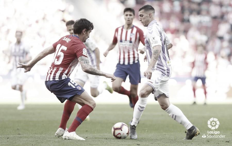 Sergi Guardiola, elegido mejor jugador por la afición ante el Atlético de Madrid