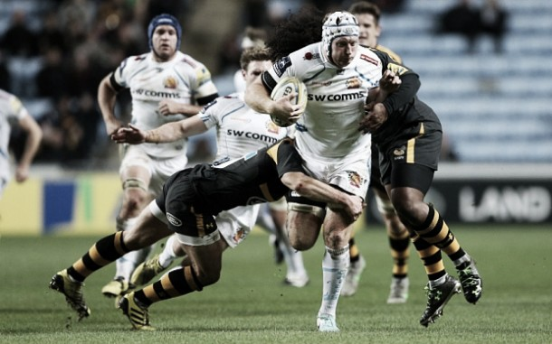 Wasps 27-41 Exeter: Waldrom triple helps Chiefs to fifth straight league win