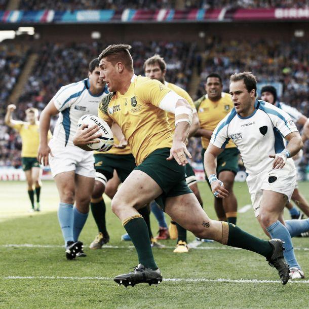 Copa Mundial de Rugby 2015: con la mente puesta en el duelo frente a Inglaterra, Australia goleó a Uruguay