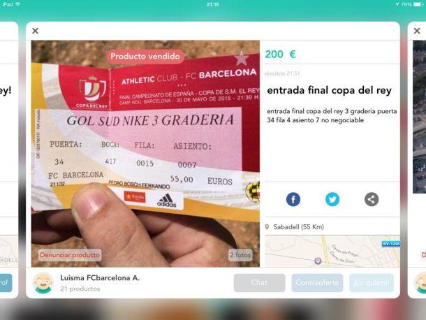 Manifest Blaugrana denuncia casos de reventa en la web Wallapop