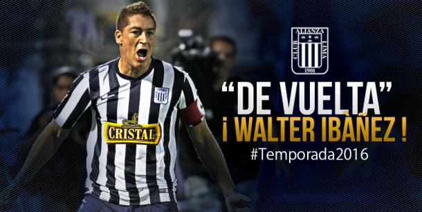 Alianza Lima concretó el regreso de Walter Ibáñez