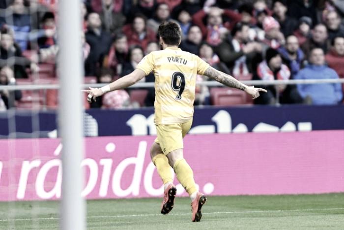Puntazo del Girona en el Wanda Metropolitano