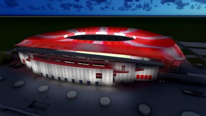 El Wanda Metropolitano será el primer estadio LED del mundo