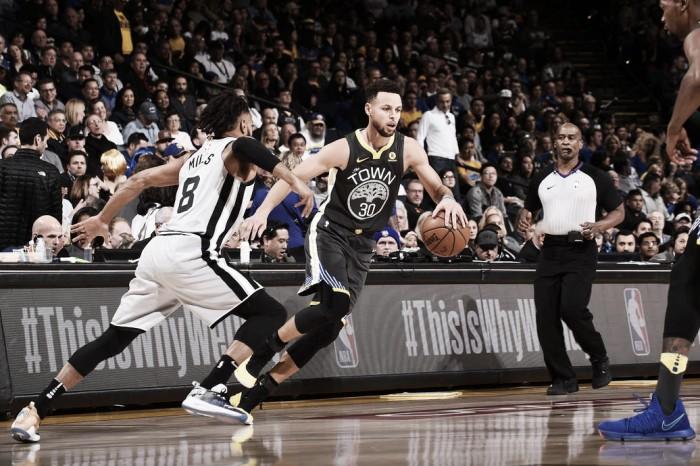 Los Spurs no tuvieron chances ante los Warriors