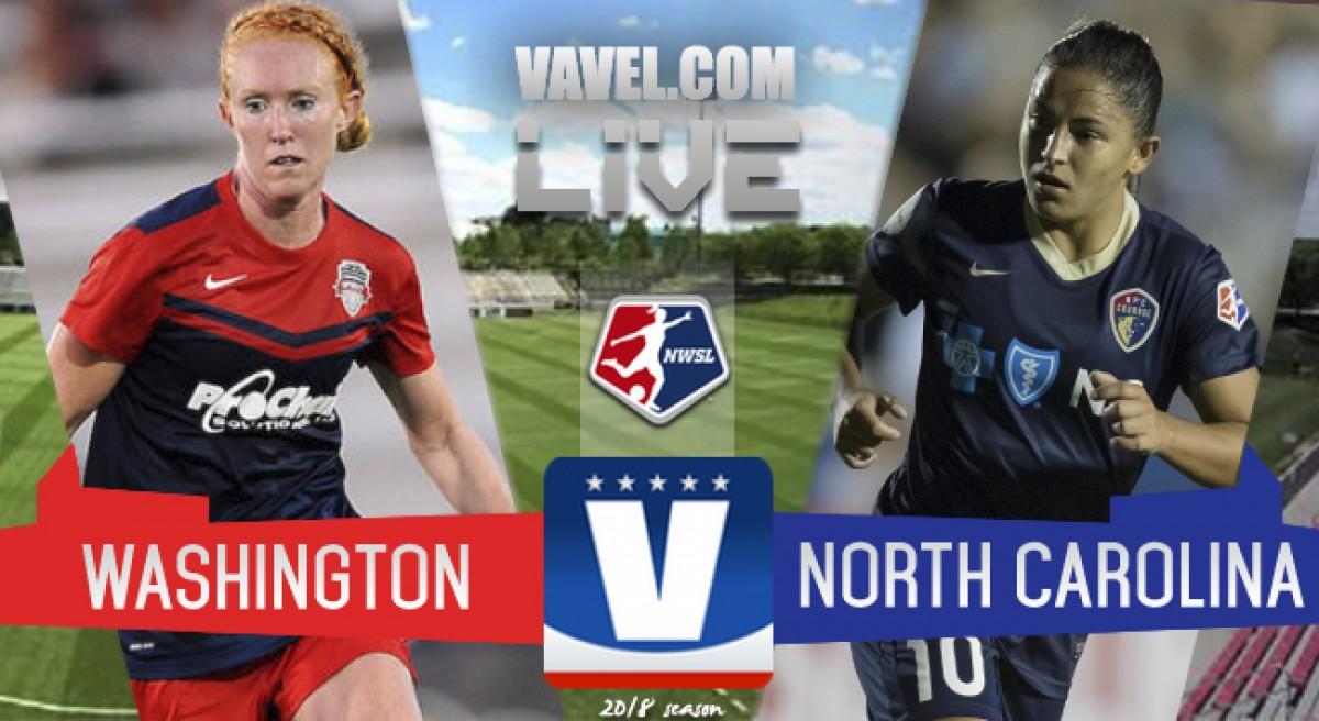 Washington Spirit vs North Carolina Courage Final Score (2-4)