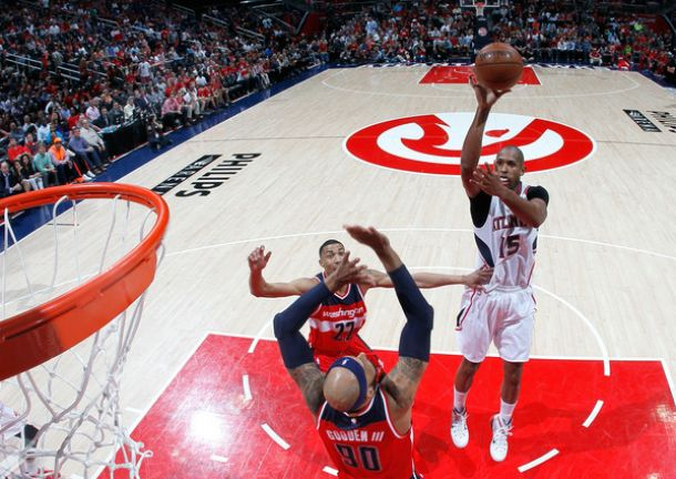 Hawks Take Down John Wall-Less Wizards To Even Series At One