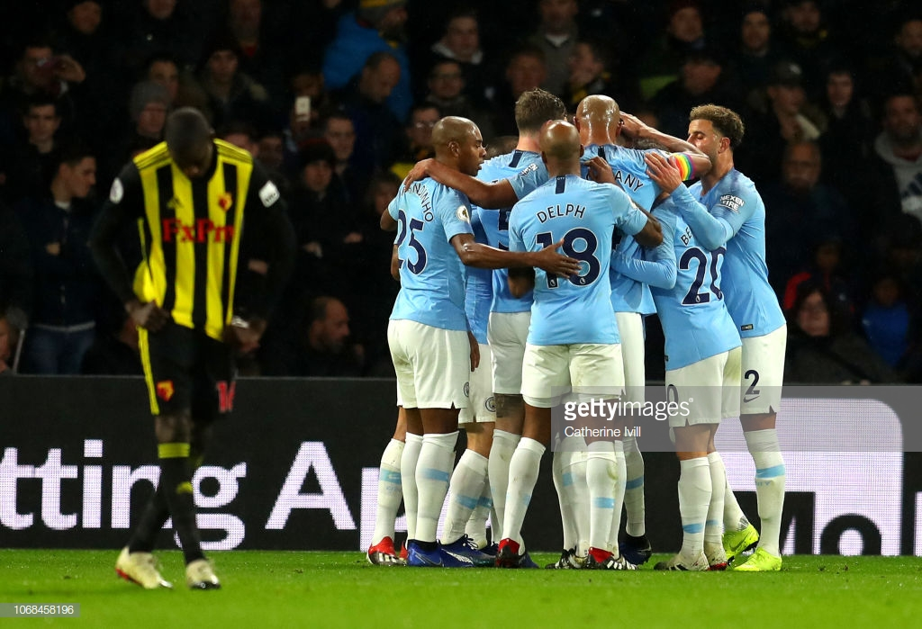 Watford 1-2 Manchester City: Guardiola's men resist late scare to secure all three points