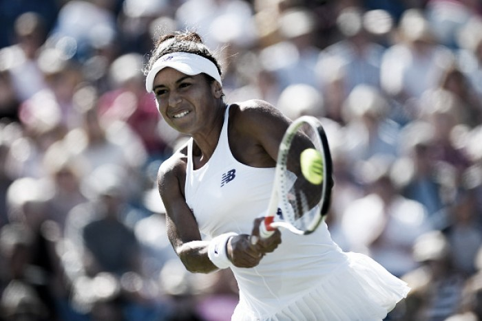 WTA Eastbourne: Heather Watson sends Dominika Cibulkova packing to reach the third round