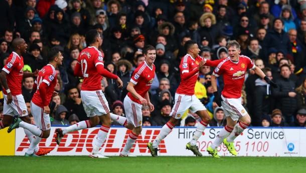 El United gana en la locura de Vicarage Road