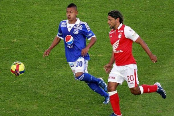 Resultado Millonarios Vs Santa Fe en la Liga Postobón 2013 (0-0)