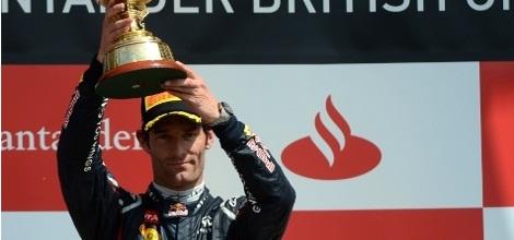 Webber consigue su segunda victoria de la temporada en Silverstone