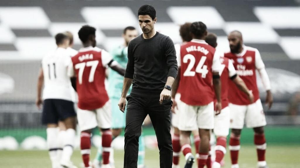 """Arteta lamenta derrota de virada para Tottenham: """"Decepcionado e frustrado"""""""