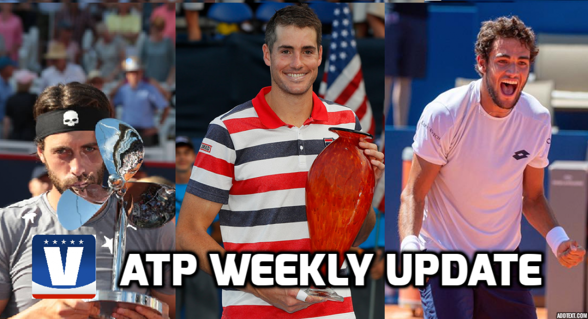 ATP Weekly Update week 30: John Isner extends Atlanta dominance while new faces clean up on clay