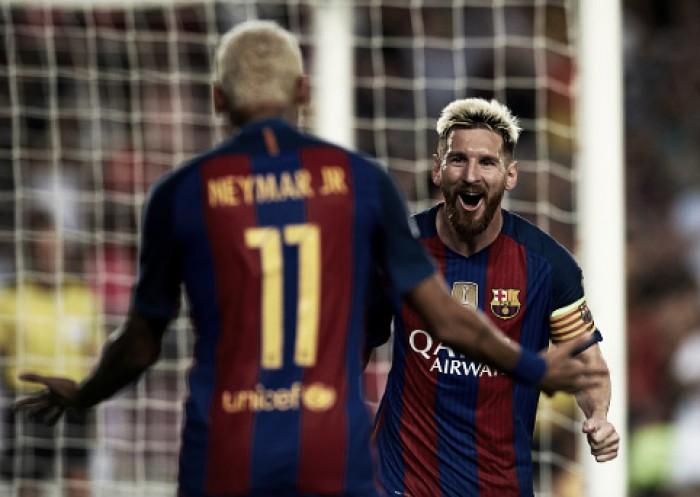 Com show do trio MSN, Barcelona pinta o sete contra Celtic na estreia da Champions