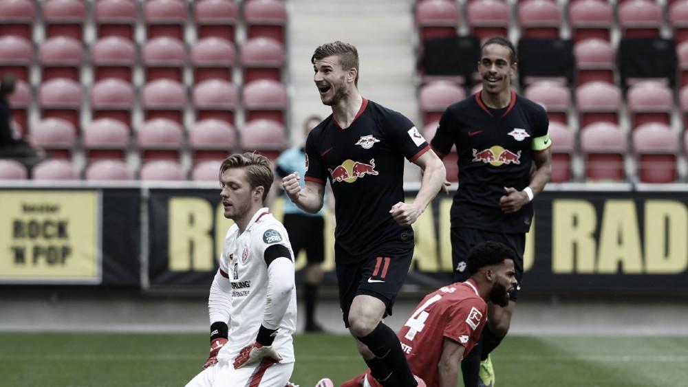 Com hat-trick de Werner, RB Leipzig goleia Mainz e retoma terceira posição da Bundesliga